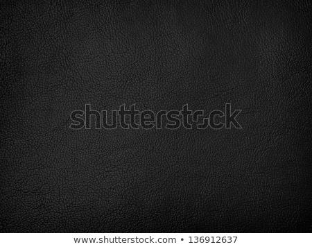 черный кожа диван современных изолированный белый Сток-фото © kokimk