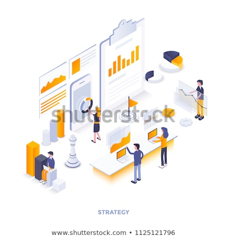 Flat Style Design Concepts for business analytics  Stock photo © DavidArts