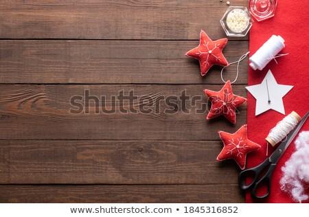 Hand naaien vrouw handen leuk Rood Stockfoto © laciatek