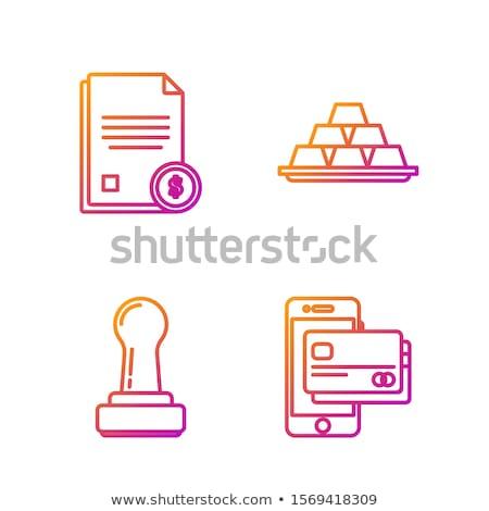 NFC Sign golden Vector Icon Design Stock photo © rizwanali3d