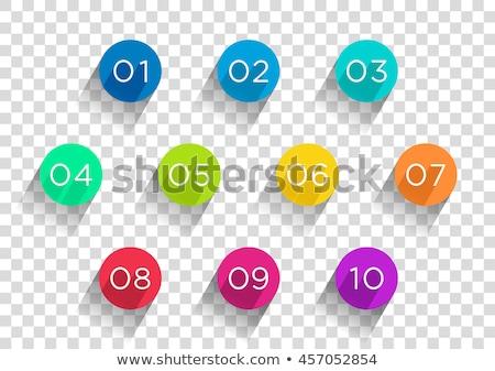 Aantal vector Rood web icon technologie web Stockfoto © rizwanali3d