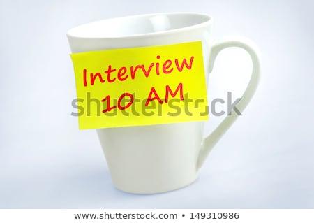 Intervista 10 parola grigio business Foto d'archivio © fuzzbones0