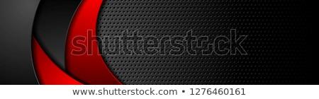 Rosso nero contrasto metal onda vettore Foto d'archivio © saicle