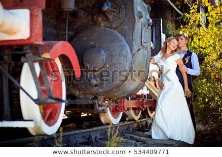 starych · pary · pociągu · przemysłowych · czarny · historii - zdjęcia stock © bezikus