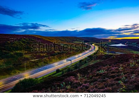 Fog on M62 motorway  Stock photo © chris2766