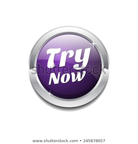 Teraz fioletowy wektora ikona projektu cyfrowe Zdjęcia stock © rizwanali3d