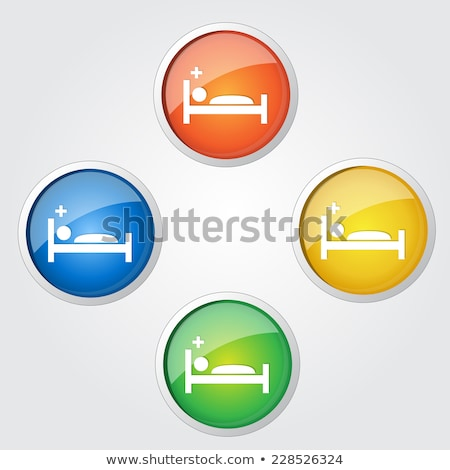 Heath Care Bed Yellow Vector Icon Design Stock photo © rizwanali3d