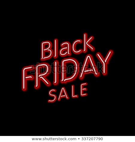 черная пятница подвесной знак eps10 дизайна фон Сток-фото © rommeo79