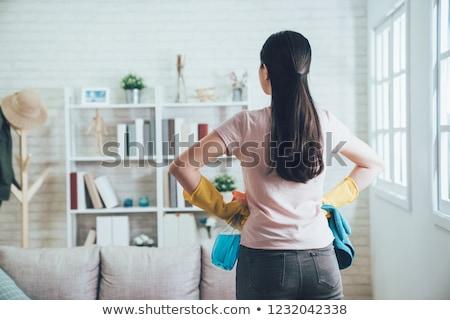 W górę biznesmen kart papieru człowiek kolor Zdjęcia stock © tiKkraf69