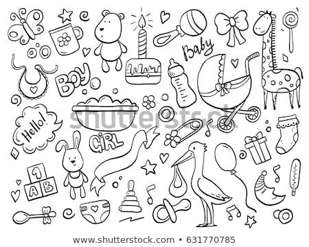 Baby Icons. Doodle Elements Set Stock photo © netkov1