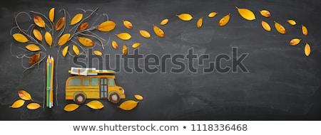 карандашей школы красочный текста форма Сток-фото © make