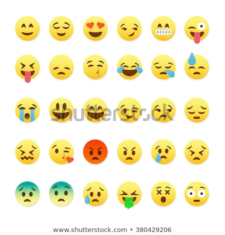 весело · Cartoon · икона · изолированный · желтый - Сток-фото © ikopylov