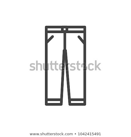 Calças ícones ilustração branco fundo jeans Foto stock © bluering