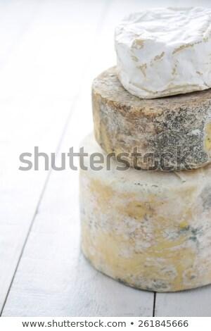 Round artisan cheese  Stock photo © Digifoodstock