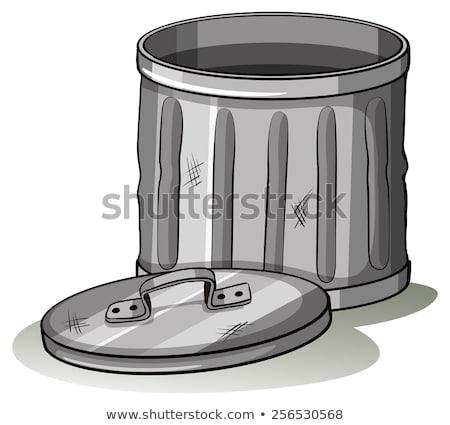 Empty grey tashcan Stock photo © bluering
