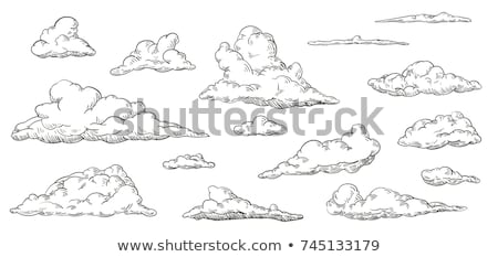 Hand drawing sky with clouds Stock photo © m_pavlov