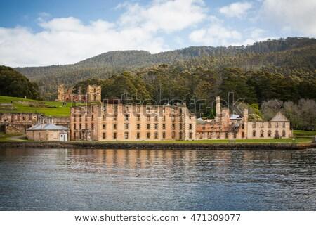 Puerto edificio tasmania Australia edad Foto stock © artistrobd