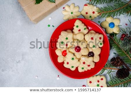 vaj · sütik · karácsony · harisnya · étel · háttér - stock fotó © digifoodstock