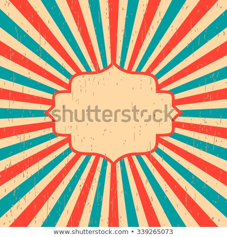 Red retro rays background with stains, grungy styled and textured Stock photo © vector1st