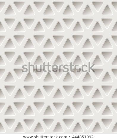 Háromszög minta építkezés fal absztrakt háló Stock fotó © Said