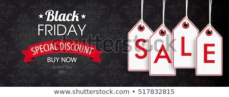 черная · пятница · продажи · лента · снега · реалистичный · баннер - Сток-фото © beholdereye