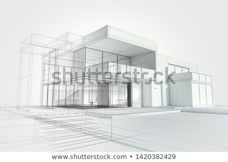 építkezés terv 10 üzlet ház háttér Stock fotó © sdCrea