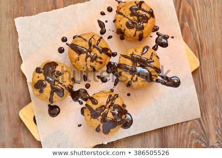 Chocolade walnoot muffin chips cake dessert Stockfoto © Digifoodstock