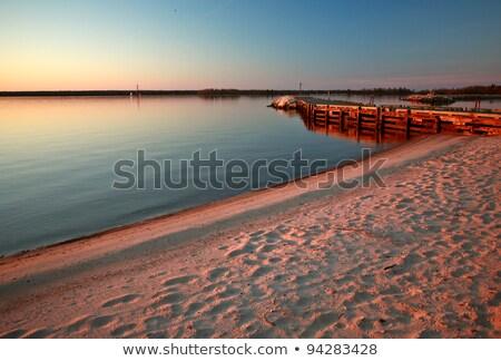 Breakwater along Lake Winnipeg Stock photo © pictureguy