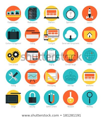 Güvenlik kod ikon dizayn iş yalıtılmış Stok fotoğraf © WaD