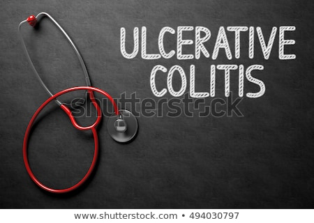 Ulcerative Colitis Concept on Chalkboard. 3D Illustration. Stock photo © tashatuvango