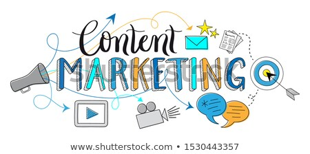 Content - Doodle Blue Word. Business Concept. Stock photo © tashatuvango