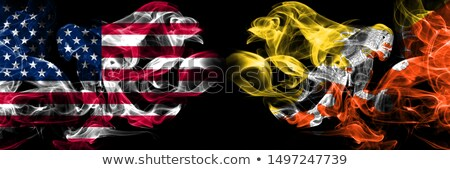 Futebol chamas bandeira Butão preto ilustração 3d Foto stock © MikhailMishchenko