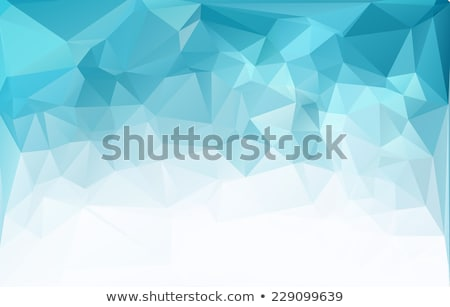 abstract blue low poly geometric background Stock photo © SArts