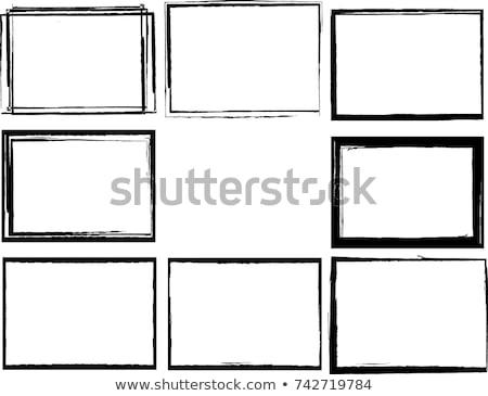 Feketefehér keret átlátszó modern bútor terv Stock fotó © romvo