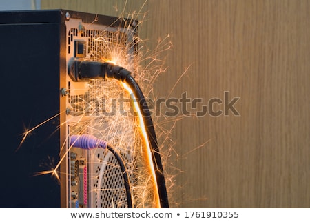burned standard electrical outlet Stock photo © ssuaphoto