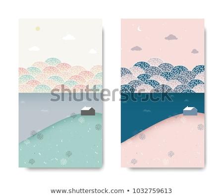 idyllisch · sneeuw · meer · wal · bergen - stockfoto © kotenko
