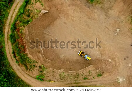 Aerial view of brown field with soil, Germany Stock photo © LightFieldStudios