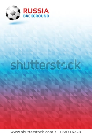 Red Russia background pattern with icons  Stock photo © cienpies