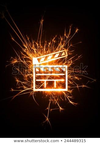 Tábla szín kitörés retro illusztráció színes Stock fotó © lenm