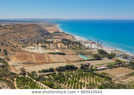 Kourion beach on Cyprus Stock photo © boggy