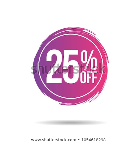 Best Discount with 25 Off Promotional Emblem Stock photo © robuart
