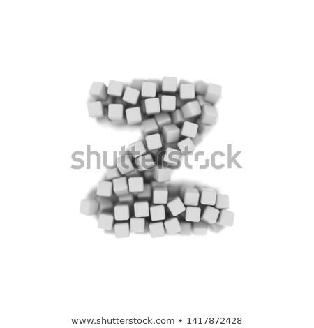 white voxel cubes font letter z 3d stock photo © djmilic