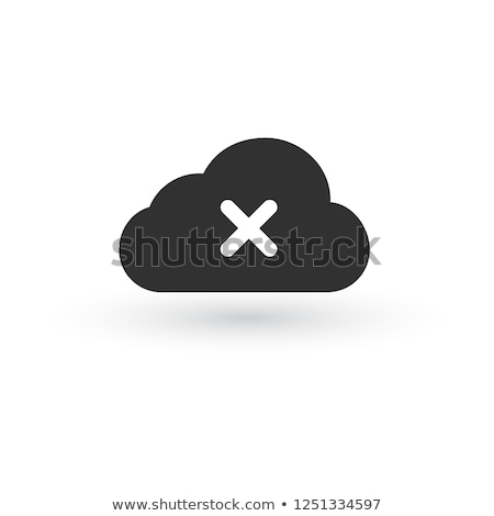 icon cloud icon with cross or delete sign. vector illustration. Stock photo © kyryloff