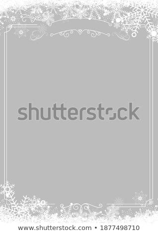 Papel marco nieve esquina gris Navidad Foto stock © romvo