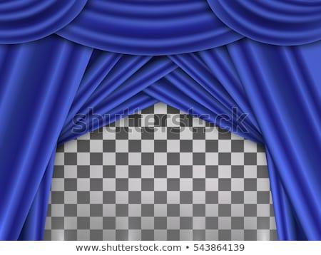 blu · tende · teatro · fase · file · sfondo - foto d'archivio © colematt