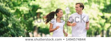 Mannen vrouwen opleiding marathon park jogging Stockfoto © jossdiim
