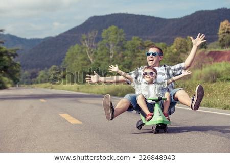 Père en fils jouer été famille enfance Photo stock © dolgachov