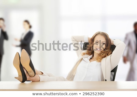 Working Break Boss Resting in Office Legs on Table Stock photo © robuart