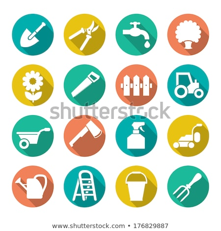 Lawn Mowers flat vector icon, garden Stock photo © nosik