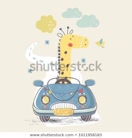 fiú · játszik · játék · autó · rajz · fiatal - stock fotó © colematt